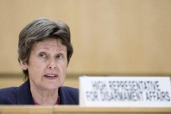 La chef du Bureau des affaires de désarmement des Nations Unies, Angela Kane. Photo ONU/Jean-Marc Ferré