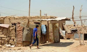 Al-Rustumiya, an informal settlement for displaced people on the outskirts of the Iraqi capital Baghdad.