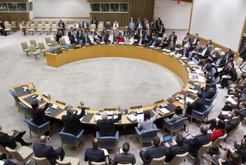 Security Council voting to approve a 12,600-strong UN peacekeeping operation to take over from the African-led mission in Mali on 1 July 2013.