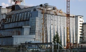 The ill-fated 4th block of the Chernobyl Nuclear Power Plant in Ukraine.