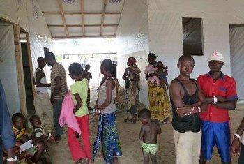 Des réfugiés centrafricains qui ont fui les violences dans leur pays, dans un camp situé dans le nord de la République démocratique du Congo (RDC).