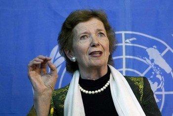 L'Envoyée spéciale du Secrétaire général pour la région des Grands Lacs, Mary Robinson.