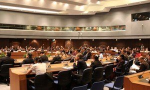 Participants at an ESCAP Roundtable in Bangkok, Thailand.