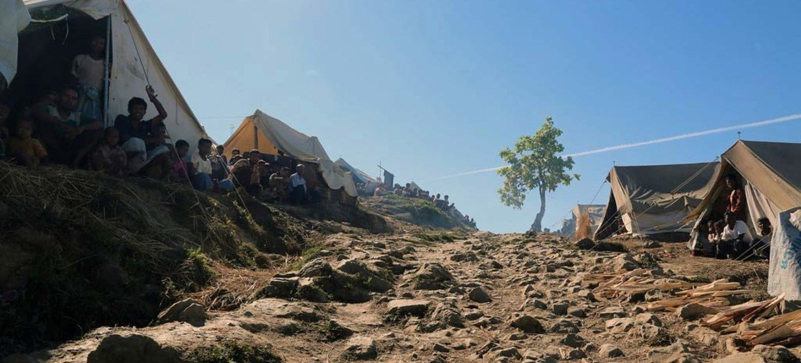 Taung Paw camp in Myebon, Myanmar, is cut off from any access to the outside world and security do not allow anyone to leave as a protection measure.