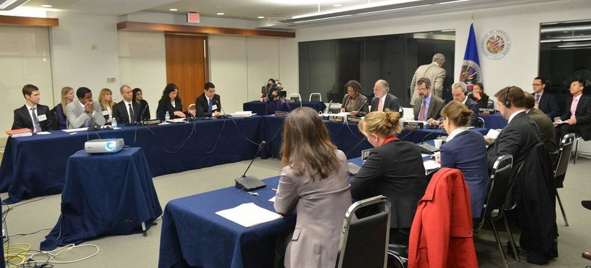 Inter-American Commission on Human Rights meeting in March 2013 in Washington, DC, to discuss the human rights situation of detainees at the Guantánamo Naval Base (file).