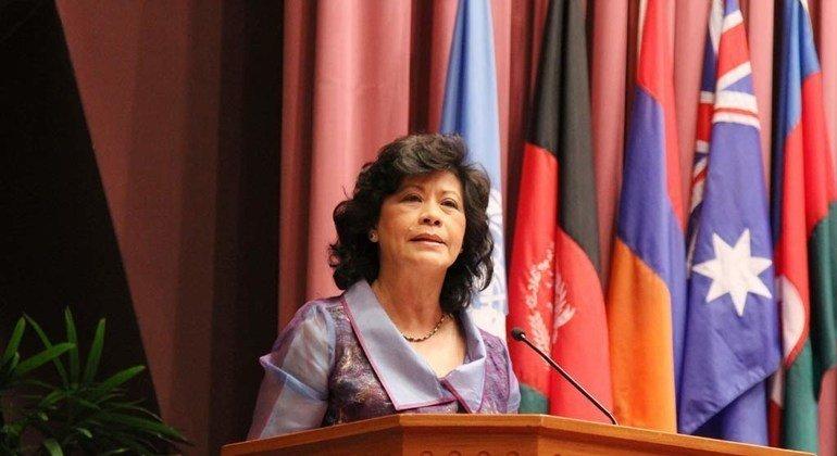 担任亚太经社会执行秘书时的诺琳·海泽(Noeleen Heyzer)。