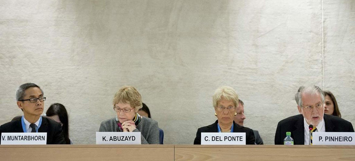 Members of the Independent International Commission of Inquiry on Syria.