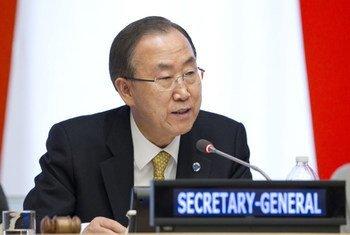 Le Secrétaire général des Nations Unies, Ban Ki-moon. Photo ONU/Rick Bajornas