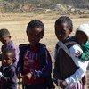 Watoto wakiwa mji wa Embetyo nchini Eritrea