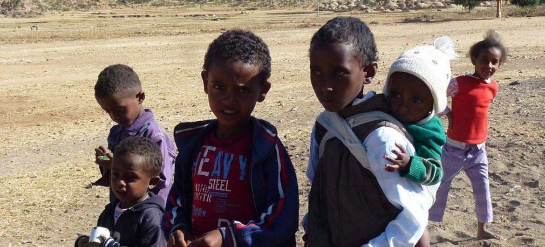 Дети в Эритрее.  Фото  Управления  ООН  по координации  гуманитарных вопросов