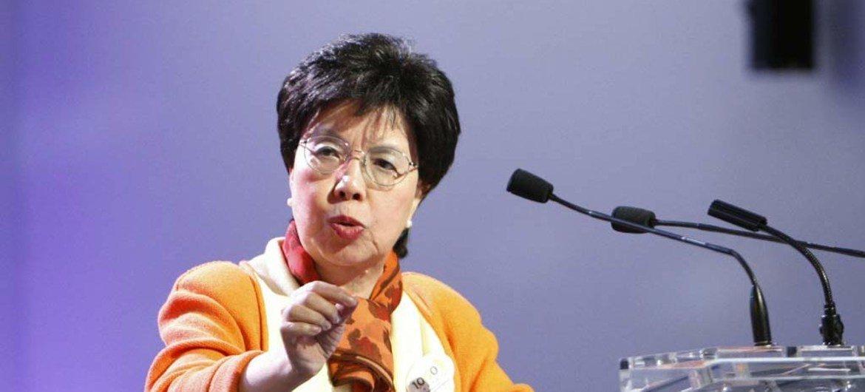 Margaret Chan, directora general de la Organización Mundial de la Salud.  Foto de archivo: ONU/Rick Bajornas