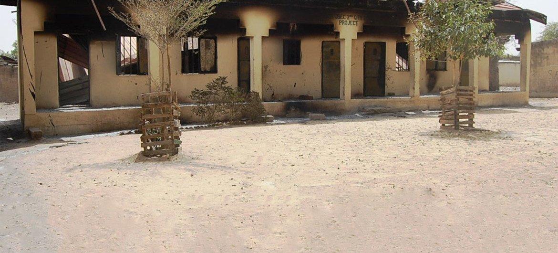 Schools burned by Boko Haram in 2013 in Maiduguri, capital of Borno State, northeastern Nigeria.