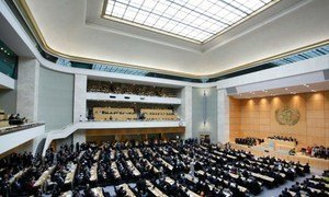 A wide section of delegates attending the opening of the 66th session of the World Health Assembly in Geneva, Switzerland.