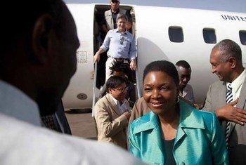 Valéria Amos arrive à El Fascher au Drafour au Soudan.