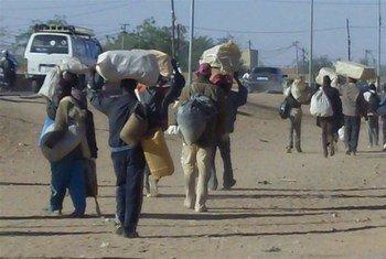 Des ressortissants nigériens qui avaient fui le conflit en Libye, arrivent dans la ville d'Agadez. (archive)