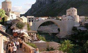 Old Bridge of Mostar in Bosnia and Herzegovina.