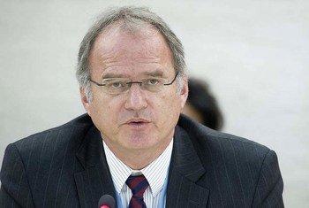联合国法外处决、即审即决或任意处决问题特别报告员海恩斯资料图片。联合国图片/Jean-Marc Ferré