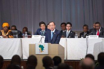 Secretary-General Ban Ki-moon addresses the fifth Tokyo International Conference on African Development (TICAD V).
