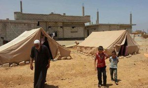 This family fled from the Syrian town of Qusayr.