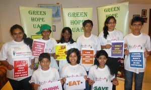 Children in the United Arab Emirates on World Environment Day.