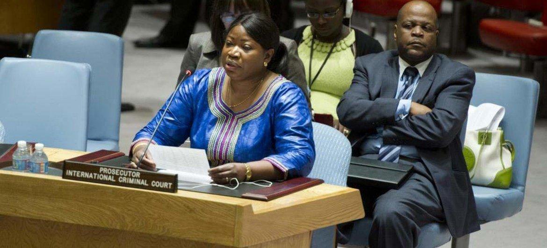Le Procureur de la Cour pénale internationale (CPI), Fatou Bensouda au Conseil de sécurité.
