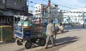 Une rue de Gaza.