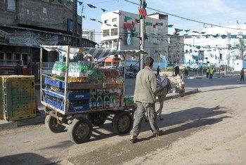 Street scene in Gaza.