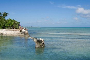 The Pacific Island nation of Kiribati has been affected by climate change.