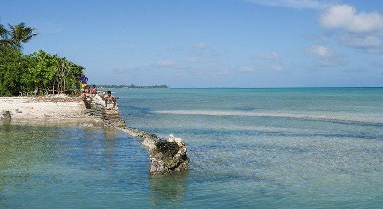 Kiribati, es una de los pequeños estados insulares más afectados por el Cambio Climático