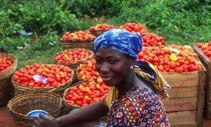 Marché au Ghana.