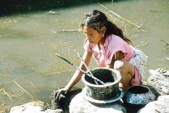 Une jeune fille au Népal travaillant comme domestique. OIT/J. Maillard