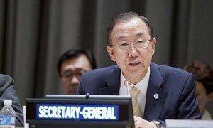 Secretary-General Ban Ki-moon.