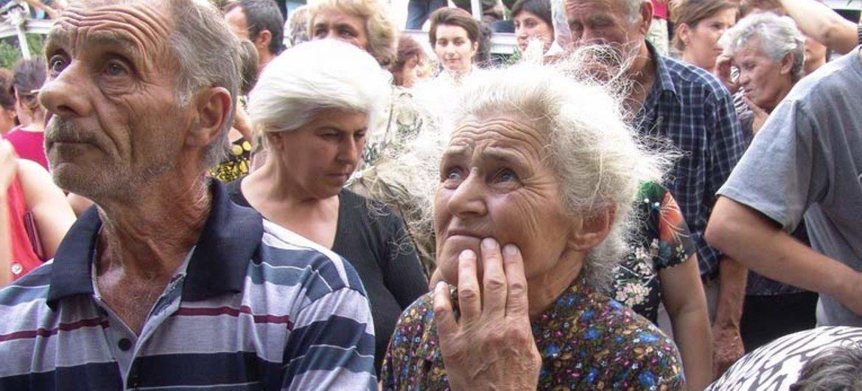 Десятки тысяч людей  бежали из Южной Осетии  в результате конфликта  в 2008  году.  Фото  2013 года УВКБ