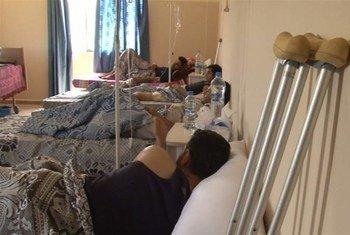 Heridos sirios en un hospital de Líbano. Foto de archivo: IRIN/Anaïs Renevier