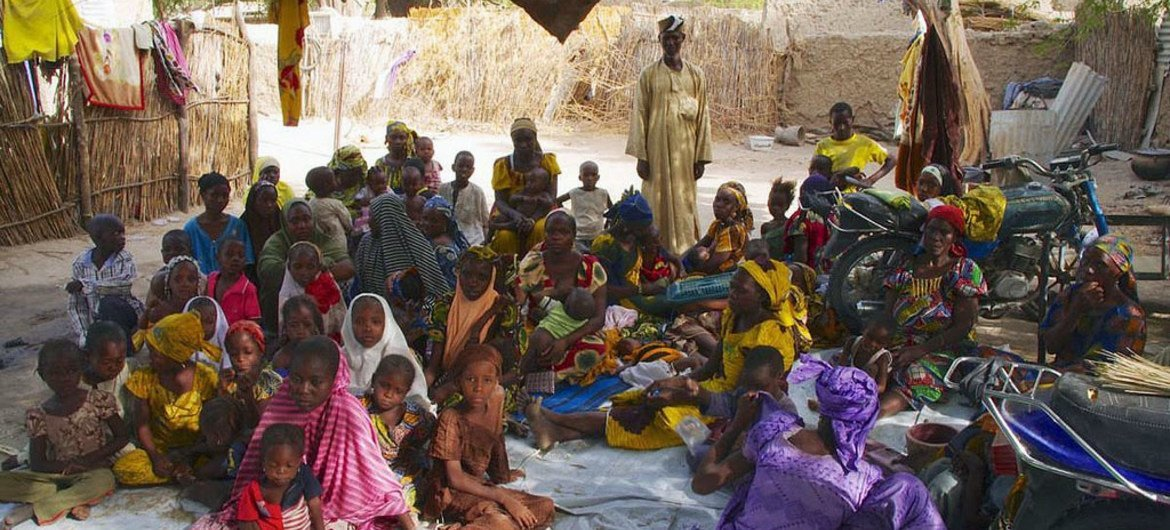After fighting began between Nigerian forces and Boko Haram, a family from Borno state fled to Niger.