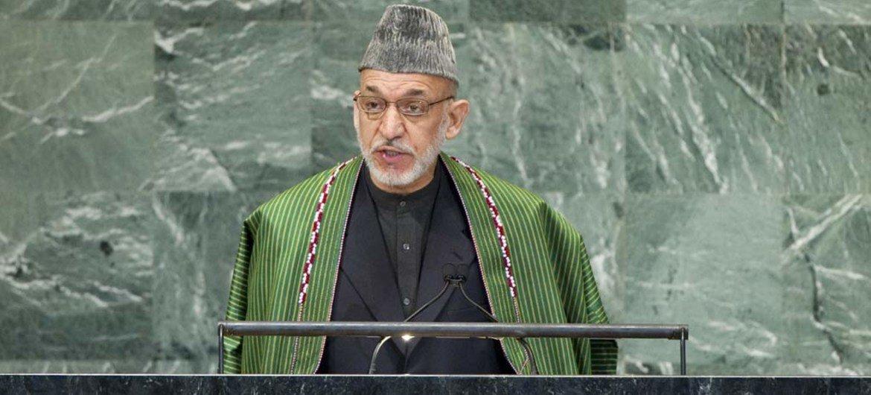 President of Afghanistan Hâmid Karzai.