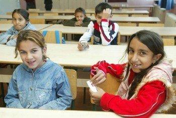 Des enfants roms en Serbie.
