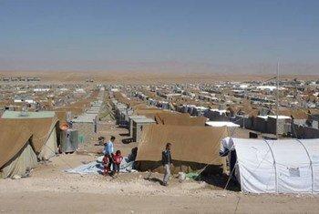 Syrian refugees in Kurdistan's Domiz camp.