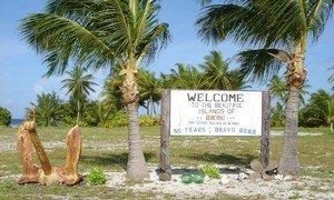 Bikini Atoll in the Marshall Islands.
