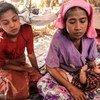 Desplazados en Myanmar.