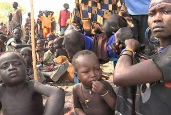 Des civils déplacés à Pibor, au Soudan du Sud.