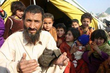 Des réfugiés afghans à Islamabad, au Pakistan.