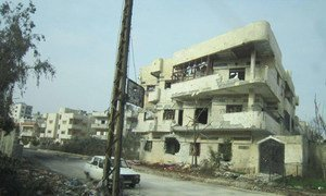 A look at some of the destruction in Homs (March 2012).