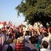 Protestan en Egipto