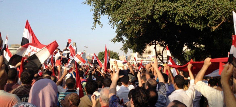 Протесты в Каире,  фото из архива ООН