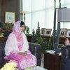 Le Secrétaire général Ban Ki-moon avec Malala Yousafzai. Photo ONU/Eskinder Debebe