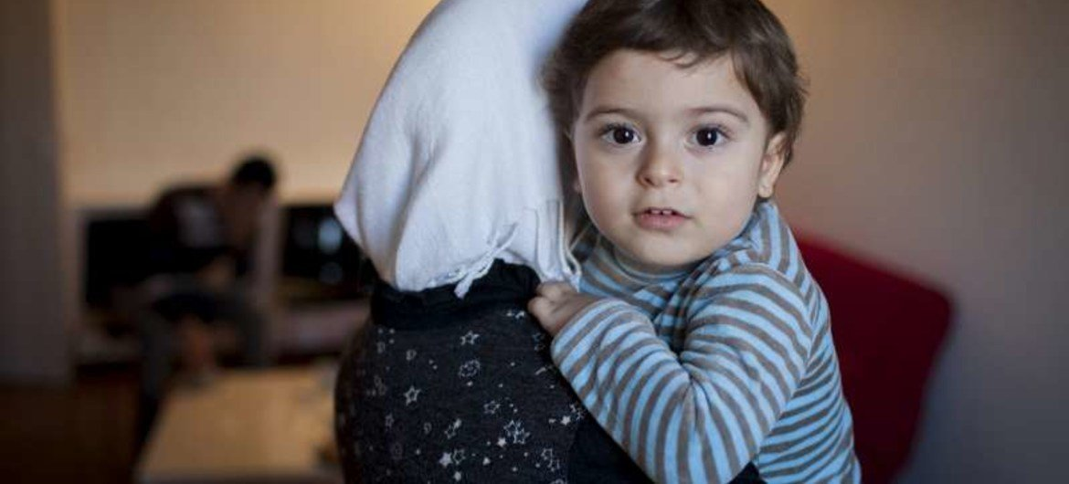 Young Omar and his parents, who fled the Syrian city of Idlib and crossed into Turkey, have been accepted for resettlement in France.