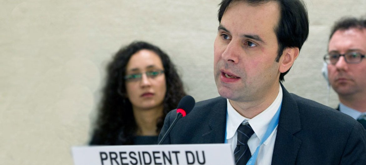 Olivier de Frouville, Chairperson of the Working Group on Enforced or Involuntary Disappearance.