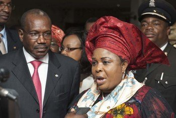 ITU Secretary-General Hamadoun I. Touré (left) with Dame Patience Goodluck Jonathan of Nigeria who has been appointed as ITU's Child Online Protection (COP) Champion.