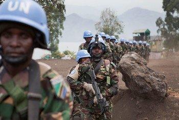 Des membres des forces spéciales tanzaniennes de la Brigade d'intervention de la MONUSCO, déployées dans le Nord-Kivu.